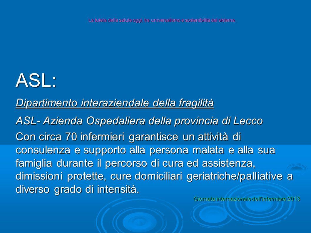 ASL: Dipartimento interaziendale della fragilità