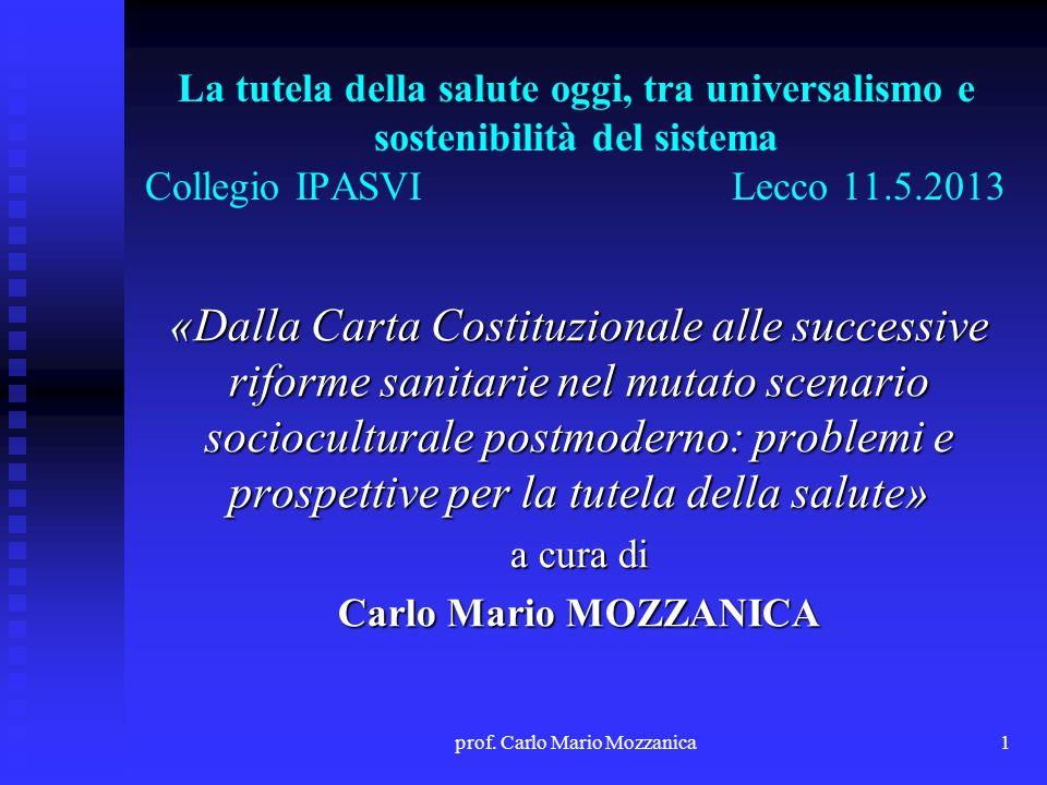 prof. Carlo Mario Mozzanica