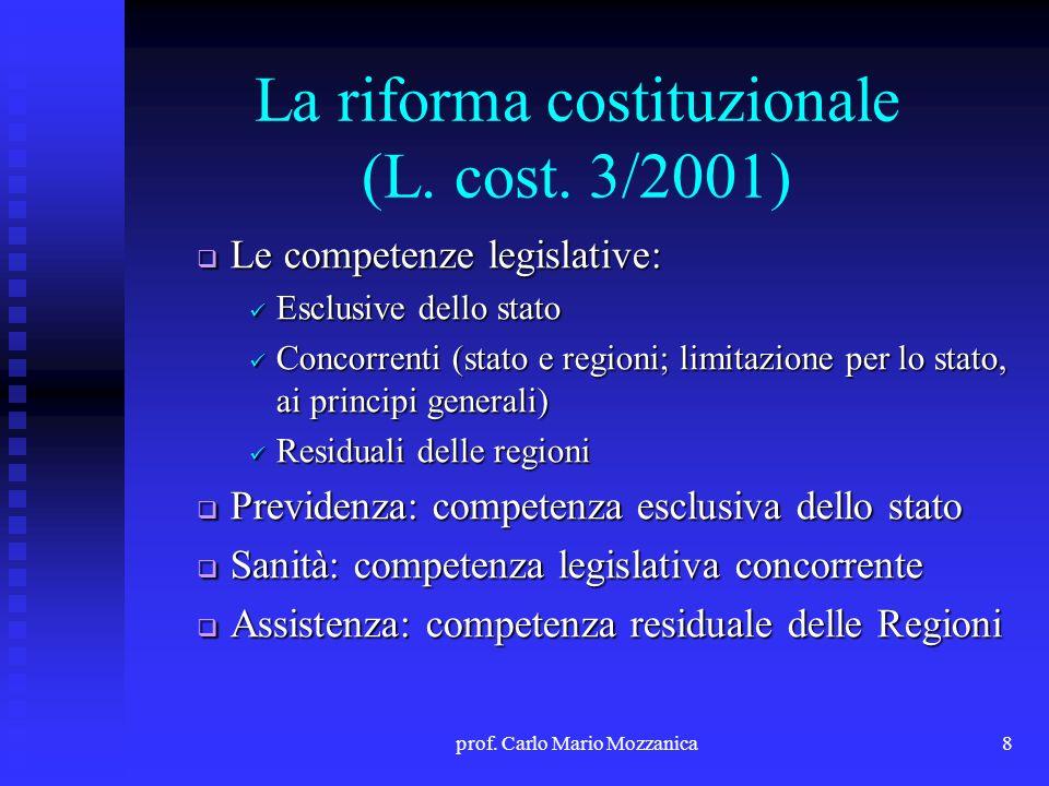 La riforma costituzionale (L. cost. 3/2001)