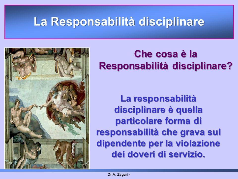 La Responsabilità disciplinare Responsabilità disciplinare