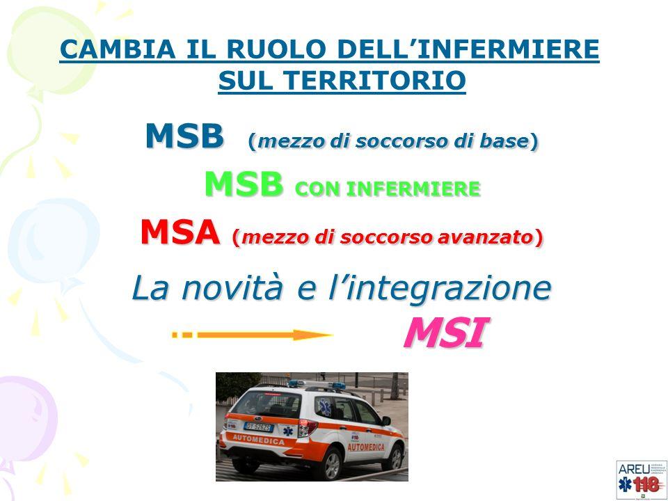 MSI MSB (mezzo di soccorso di base) MSB CON INFERMIERE