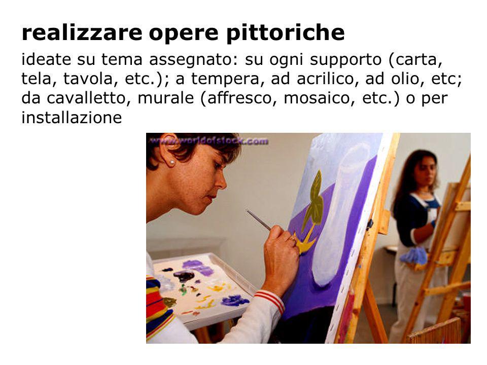 realizzare opere pittoriche