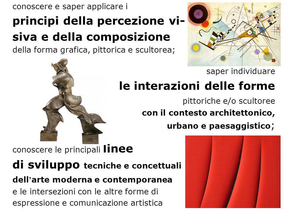 principi della percezione vi- siva e della composizione