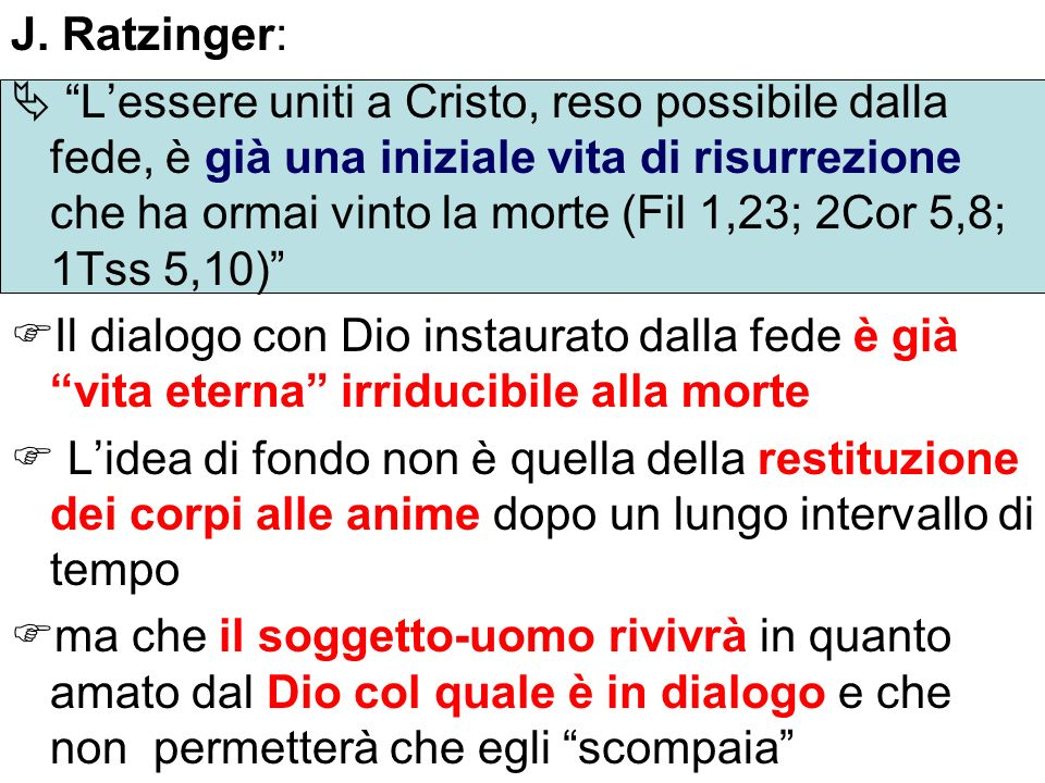 J. Ratzinger: