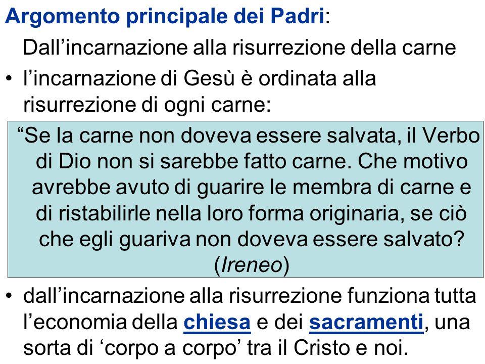 Argomento principaIe dei Padri: