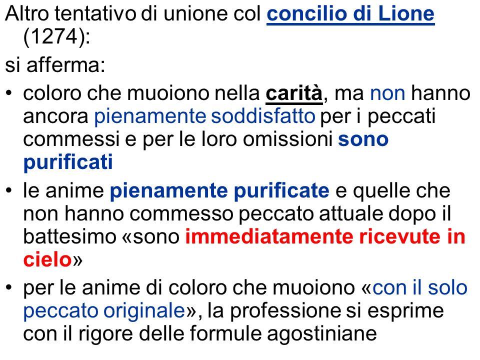 Altro tentativo di unione col concilio di Lione (1274):