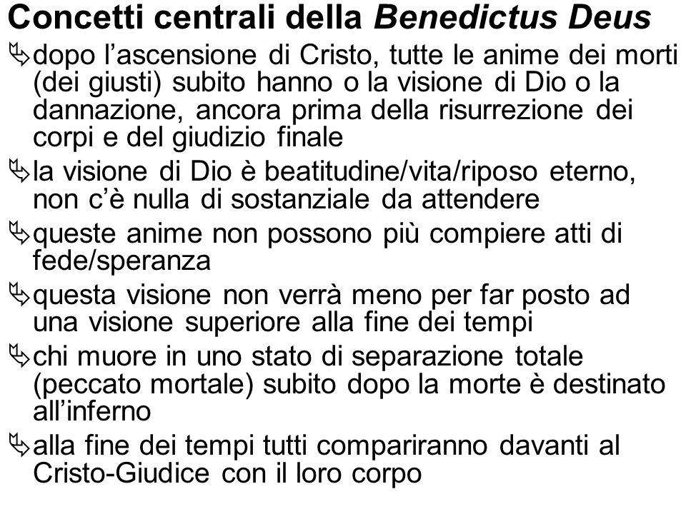 Concetti centrali della Benedictus Deus
