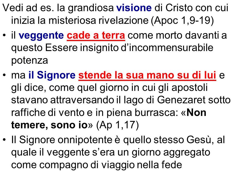 Vedi ad es. la grandiosa visione di Cristo con cui inizia la misteriosa rivelazione (Apoc 1,9-19)