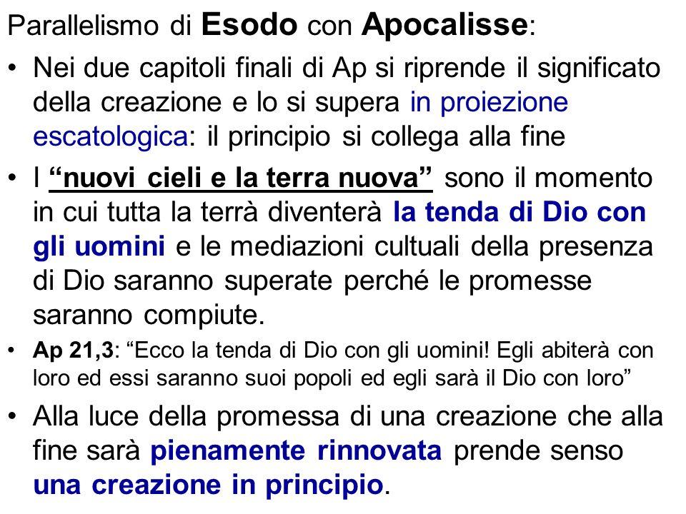 Parallelismo di Esodo con Apocalisse: