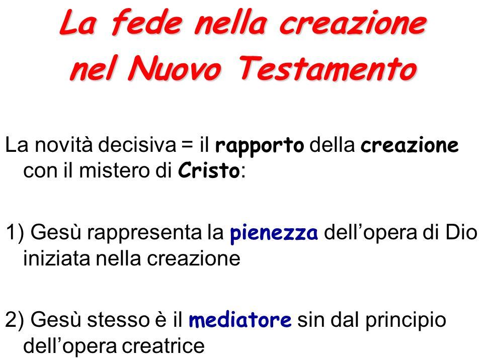 La fede nella creazione