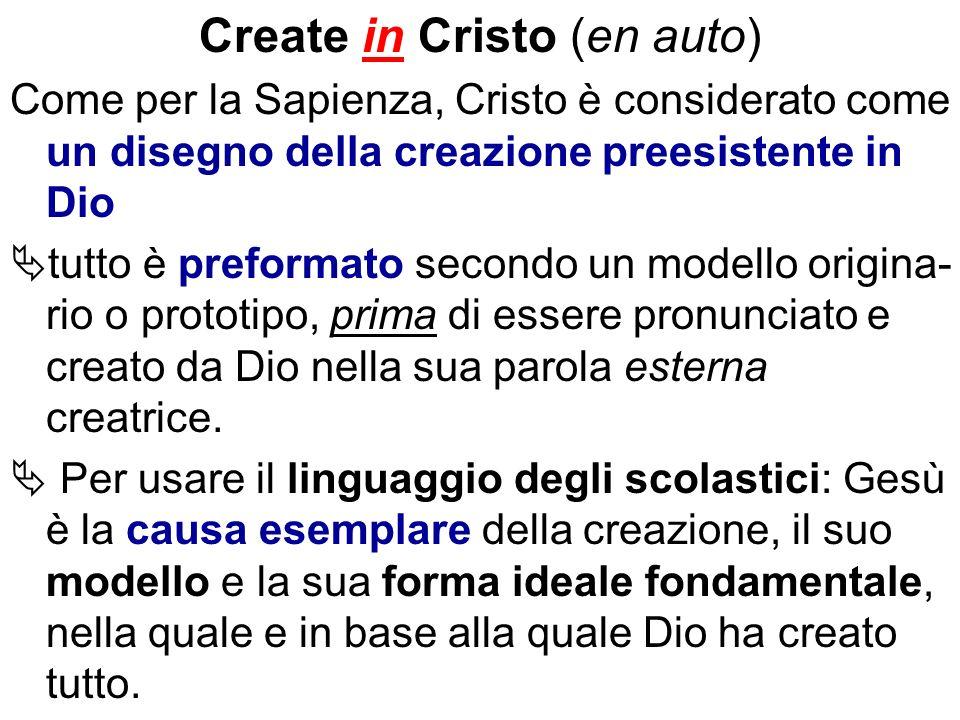 Create in Cristo (en auto)