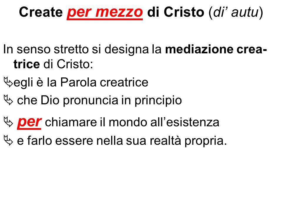 Create per mezzo di Cristo (di' autu)