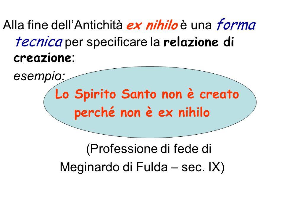 Lo Spirito Santo non è creato perché non è ex nihilo