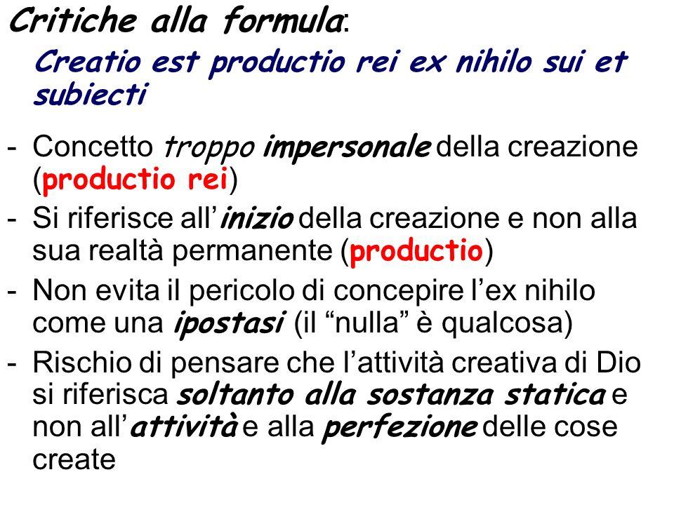 Critiche alla formula: