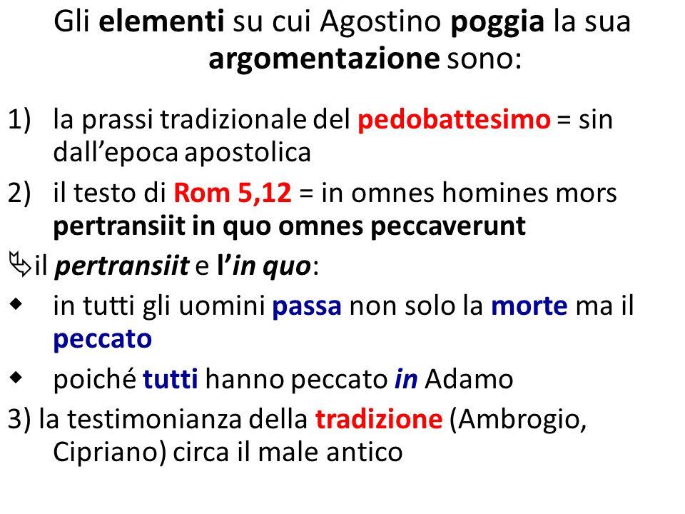 Gli elementi su cui Agostino poggia la sua argomentazione sono: