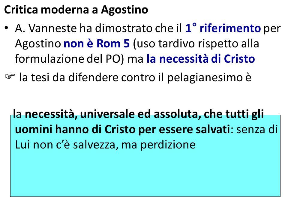 Critica moderna a Agostino