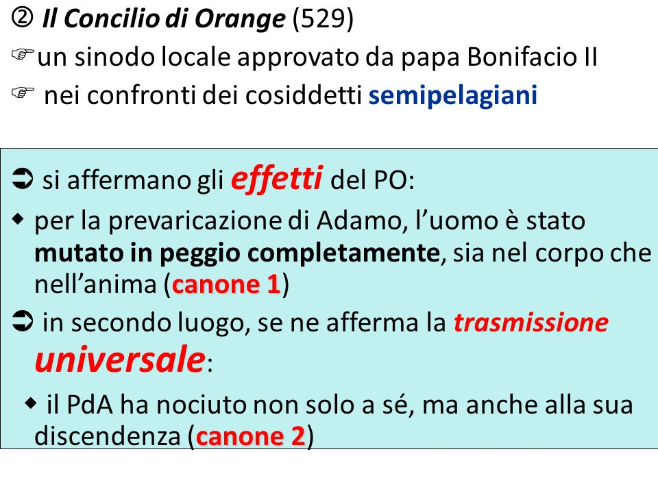  Il Concilio di Orange (529)