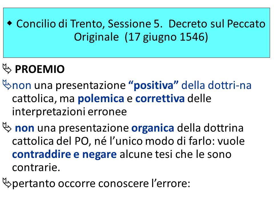 Concilio di Trento, Sessione 5