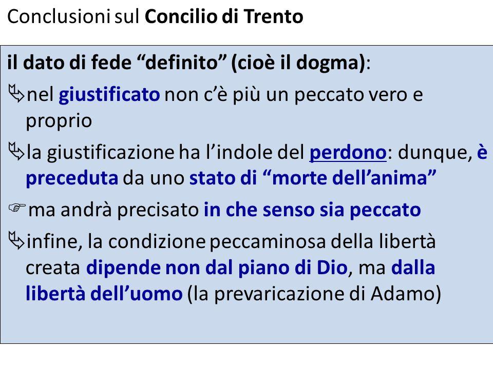 Conclusioni sul Concilio di Trento