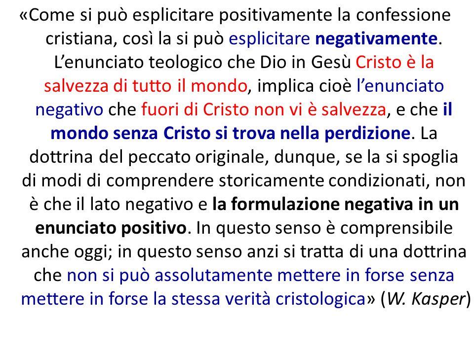 «Come si può esplicitare positivamente la confessione cristiana, così la si può esplicitare negativamente.