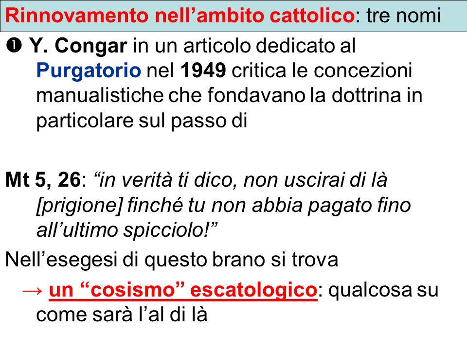 Rinnovamento nell'ambito cattolico: tre nomi