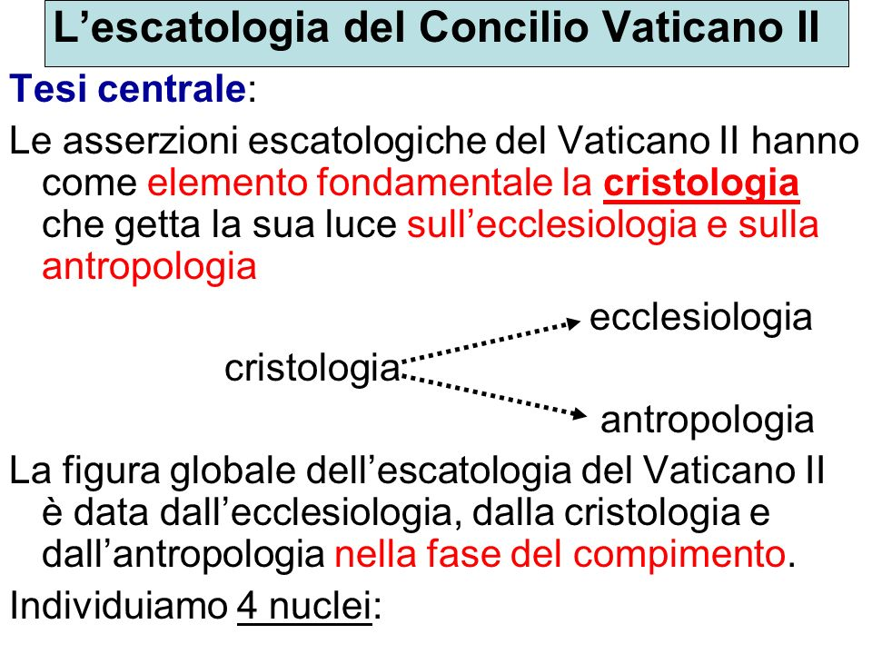 L'escatologia del Concilio Vaticano II