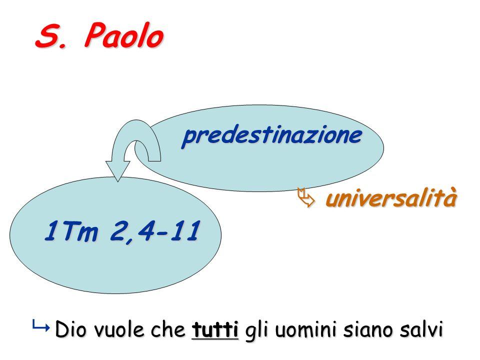 S. Paolo predestinazione  universalità 1Tm 2,4-11
