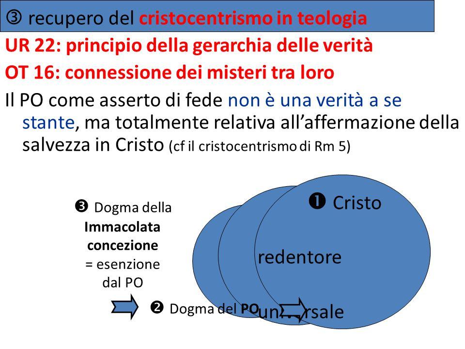 Dogma della Immacolata concezione = esenzione dal PO
