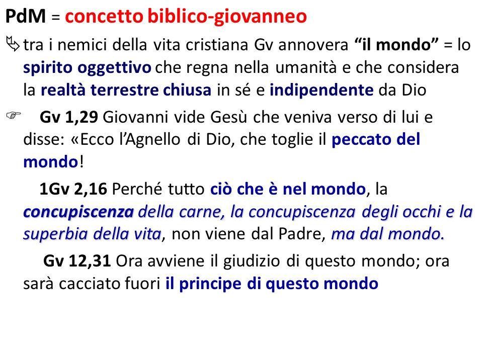 PdM = concetto biblico-giovanneo