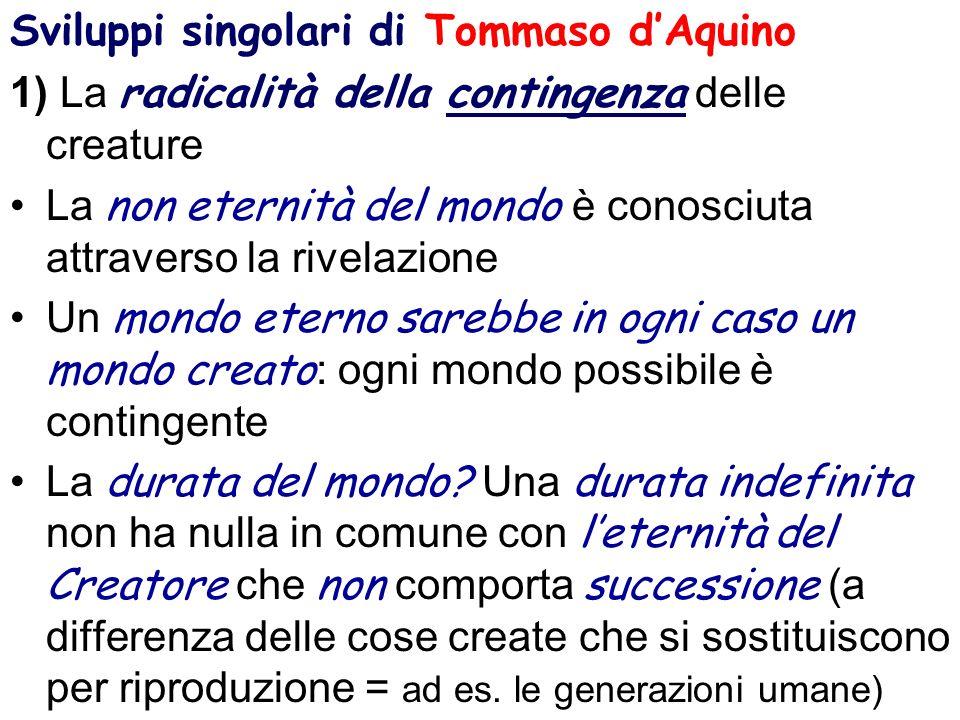 Sviluppi singolari di Tommaso d'Aquino