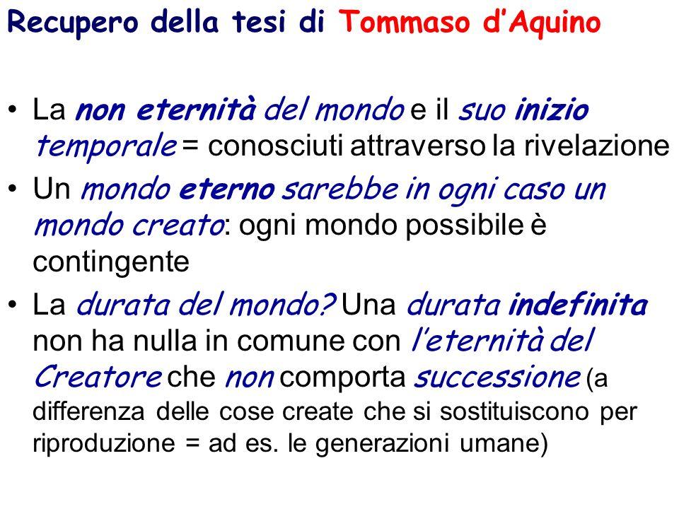 Recupero della tesi di Tommaso d'Aquino