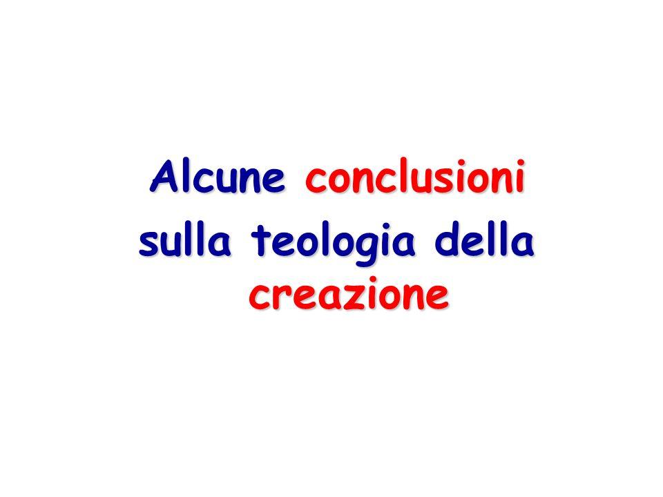 sulla teologia della creazione