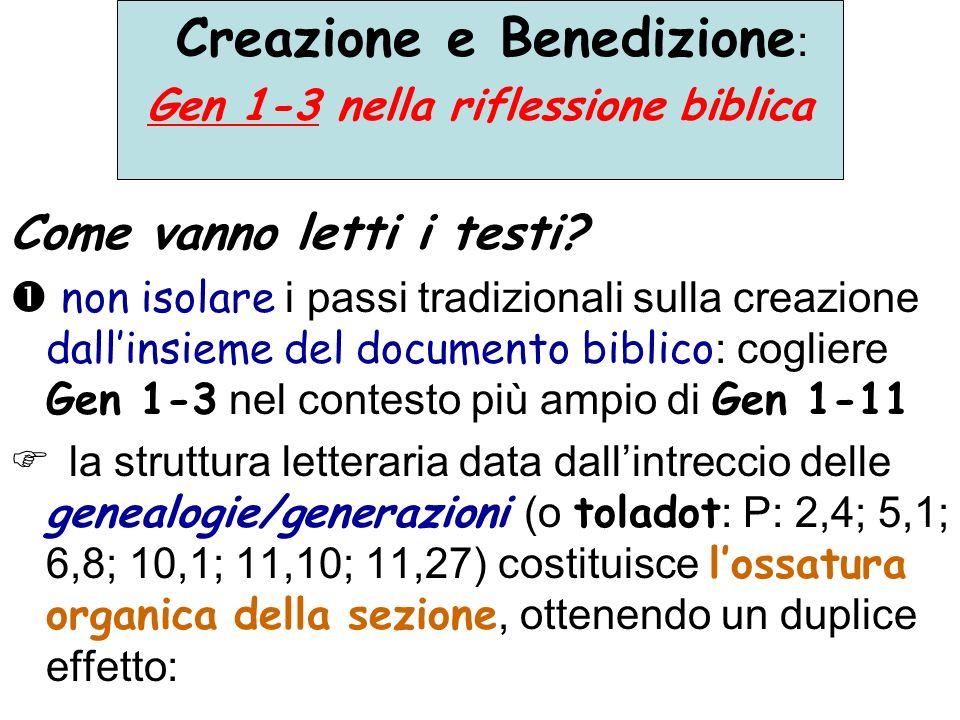 Gen 1-3 nella riflessione biblica