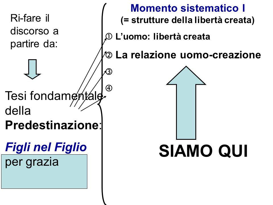 Momento sistematico I (= strutture della libertà creata)