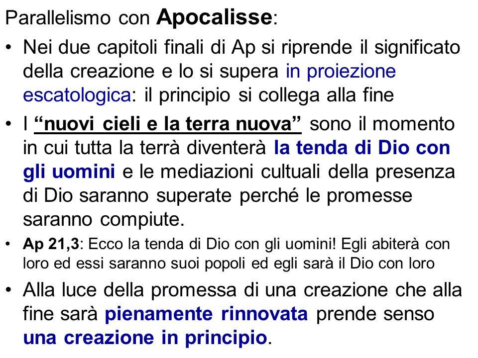 Parallelismo con Apocalisse: