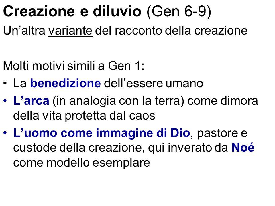Creazione e diluvio (Gen 6-9)
