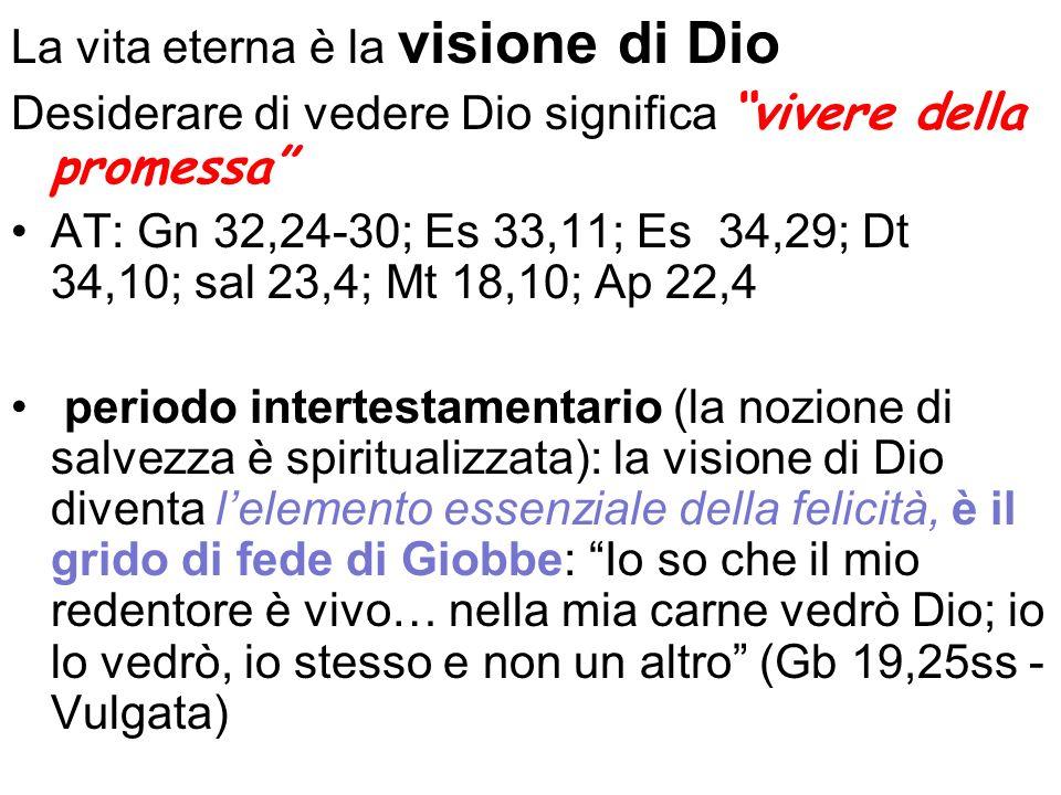 La vita eterna è la visione di Dio