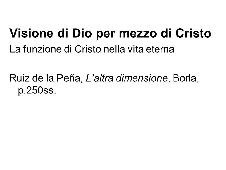 Visione di Dio per mezzo di Cristo