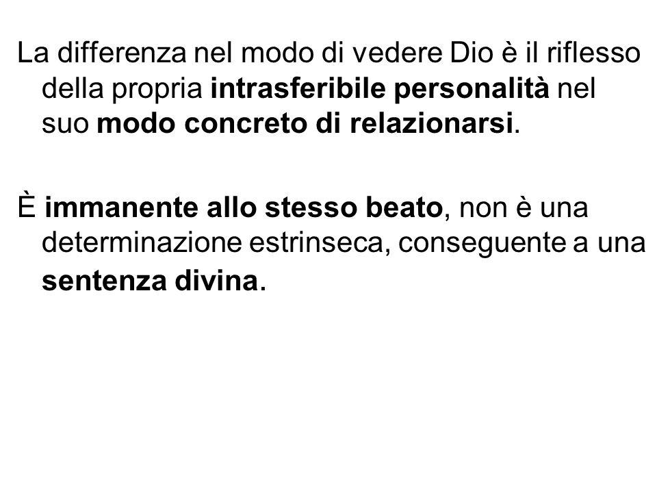 La differenza nel modo di vedere Dio è il riflesso della propria intrasferibile personalità nel suo modo concreto di relazionarsi.