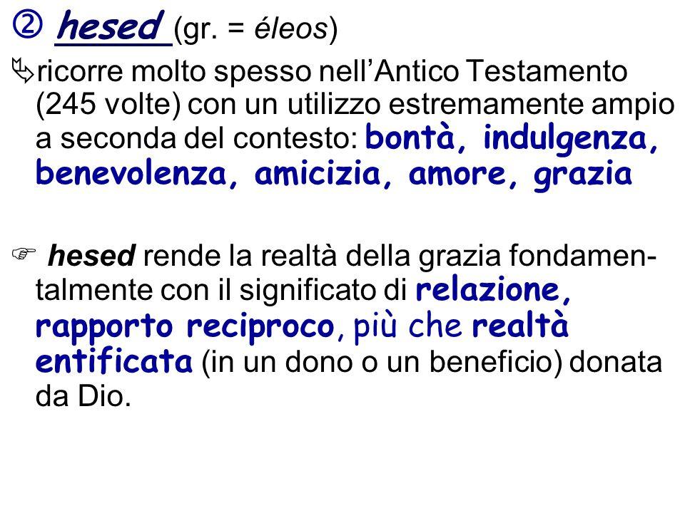  hesed (gr. = éleos)