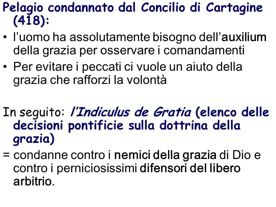 Pelagio condannato dal Concilio di Cartagine (418):
