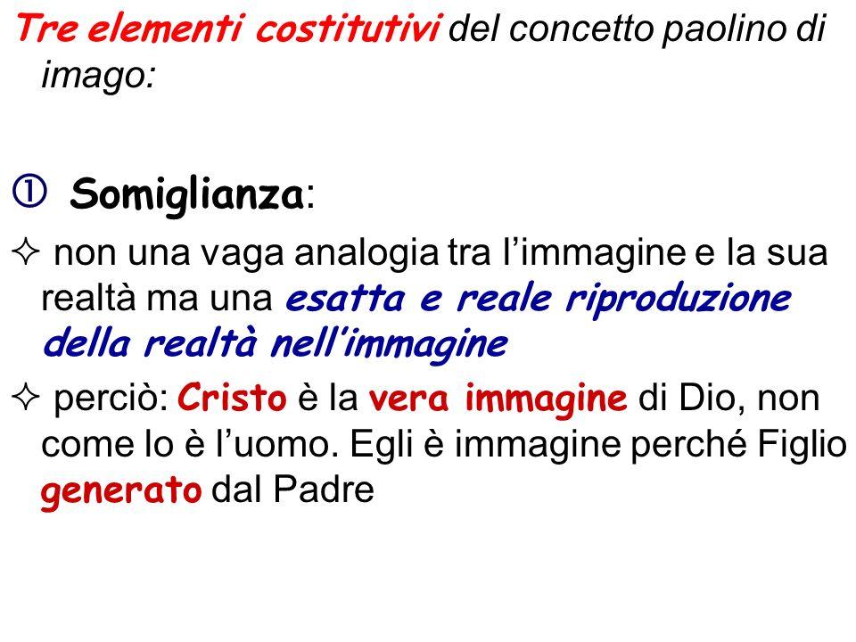  Somiglianza: Tre elementi costitutivi del concetto paolino di imago: