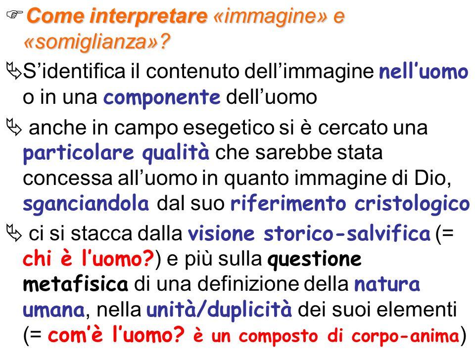 Come interpretare «immagine» e «somiglianza»
