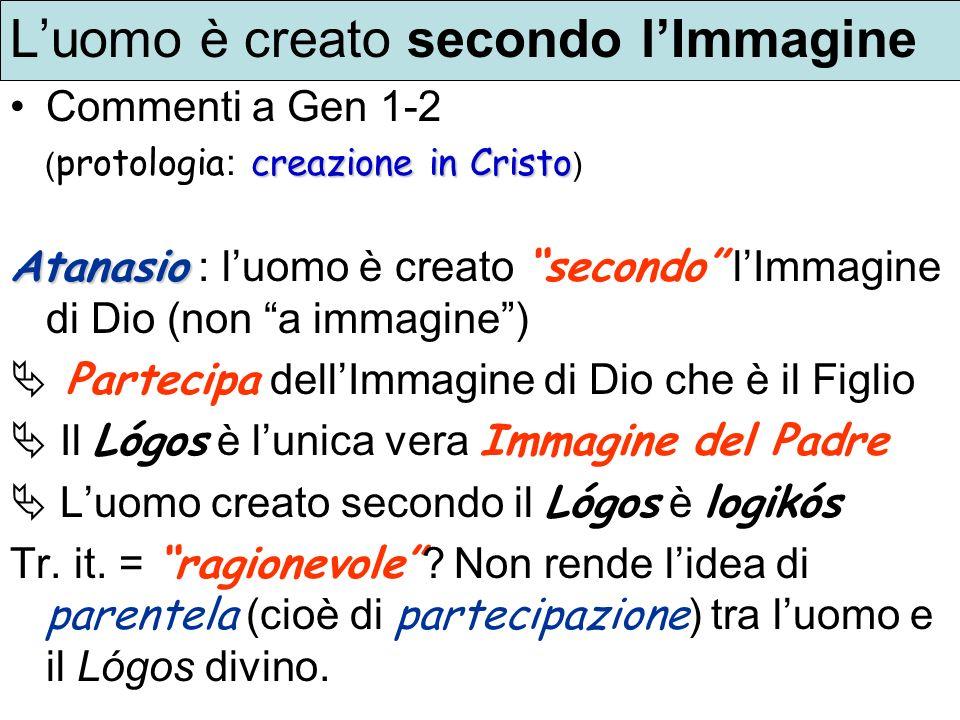 L'uomo è creato secondo l'Immagine