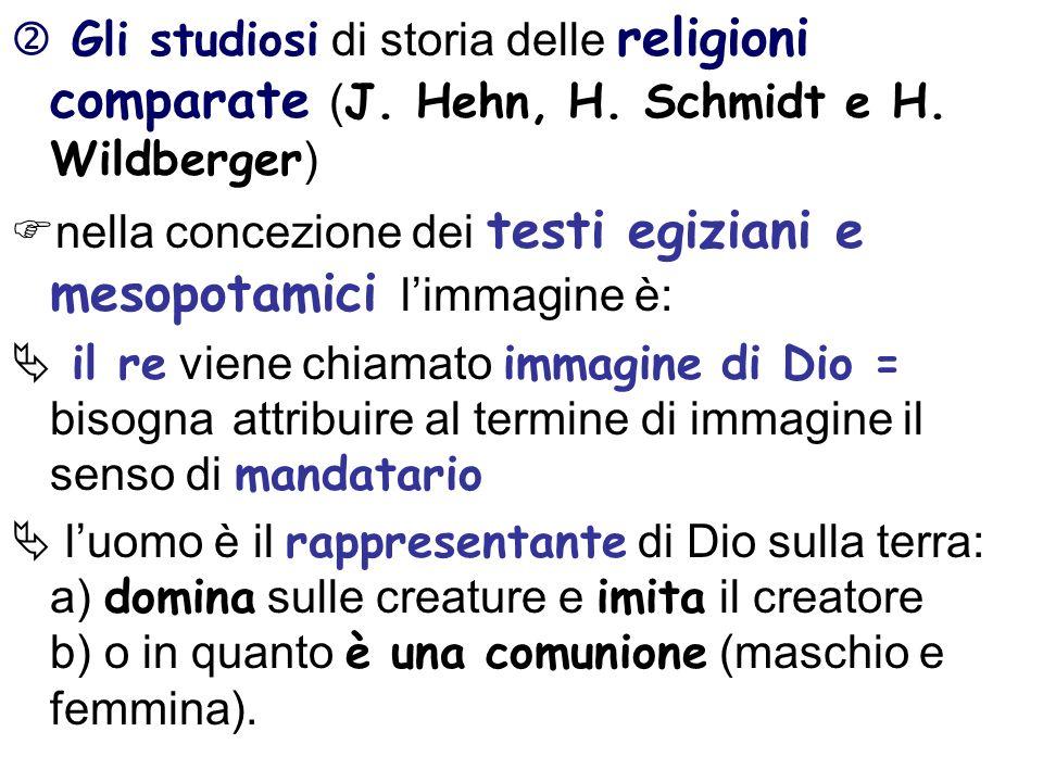  Gli studiosi di storia delle religioni comparate (J. Hehn, H