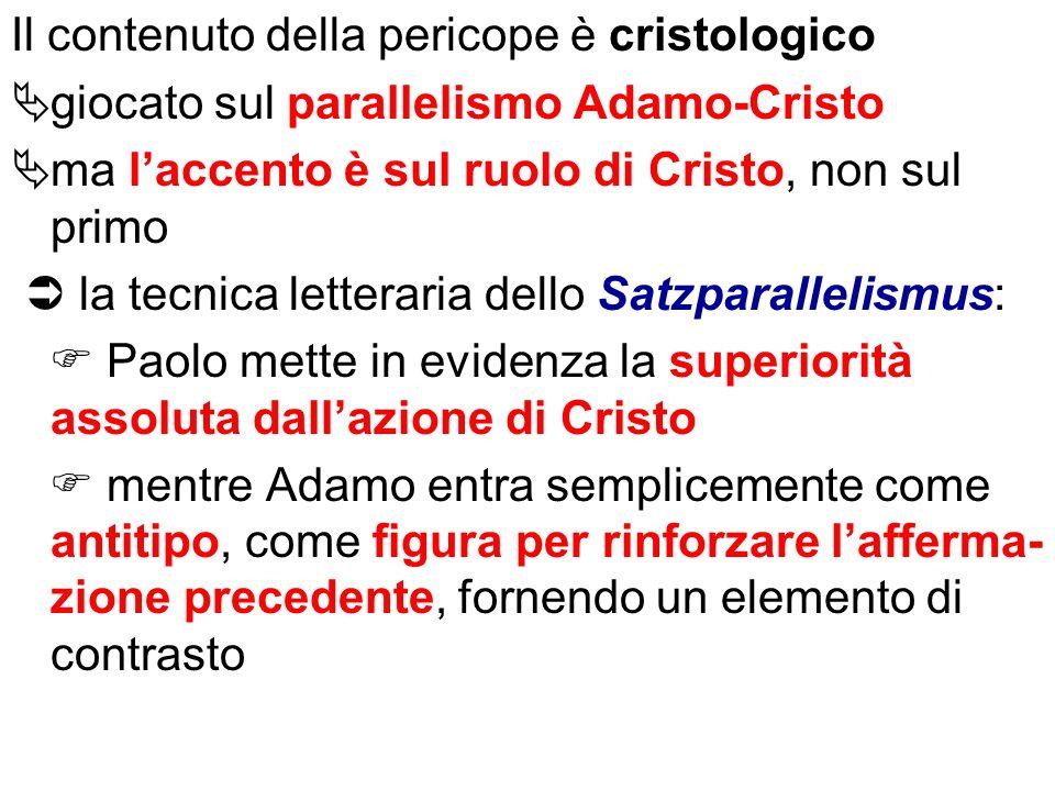 Il contenuto della pericope è cristologico