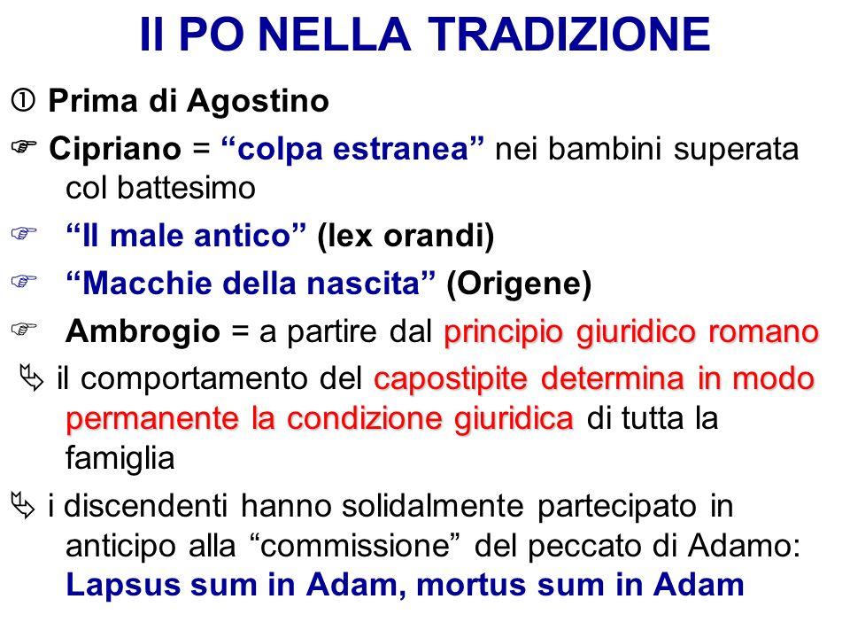 Il PO NELLA TRADIZIONE  Prima di Agostino