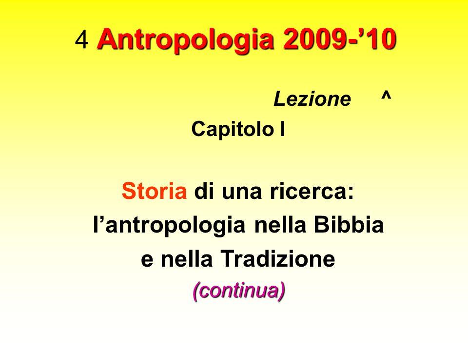 l'antropologia nella Bibbia