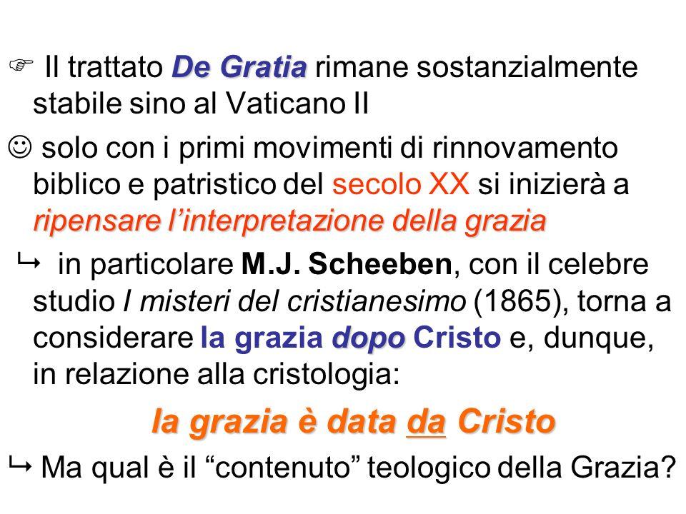  Il trattato De Gratia rimane sostanzialmente stabile sino al Vaticano II