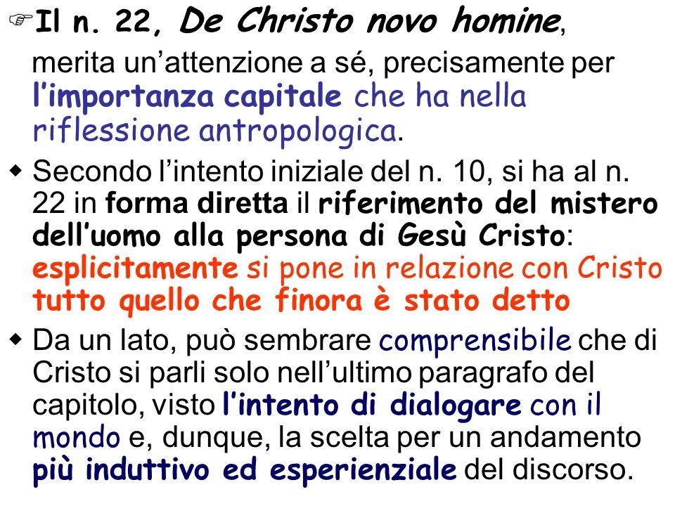 Il n. 22, De Christo novo homine,